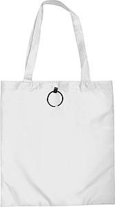 PINAR Skládací nákupní taška z polyesteru, bílá