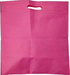 Malá nákupní taška z netkané textilie, růžová