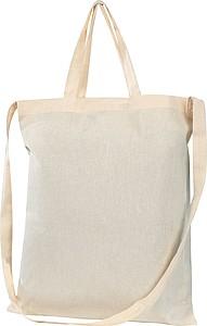 Bavlněná nákupní taška s krátkými uchy i dlouhým uchem na rameno