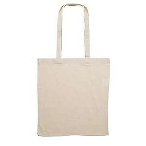 Bavlněná nákupní taška s dlouhými uchy, přírodní