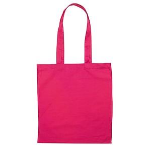 Bavlněná nákupní taška s dlouhými uchy, růžová