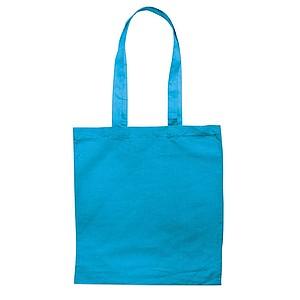 Bavlněná nákupní taška s dlouhými uchy, tyrkysová
