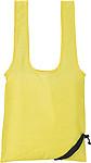 GANDA Skládací nákupní taška, žlutá papírová taška s potiskem