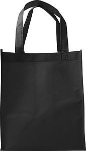 Nákupní taška z netkané textilie, černá