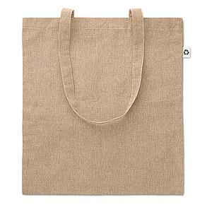 JACUBA Ekologická nákupní taška s dlouhými uchy, z recyklované bavlny, béžová
