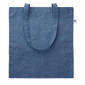 JACUBA Ekologická nákupní taška s dlouhými uchy, z recyklované bavlny, modrá