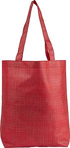 Nákupní taška z netkané textílie, červená
