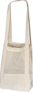 Bavlněná taška OEKO Tex s háčkovanou střední částí,bílá