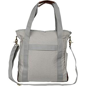 Bavlněná taška přes rameno se zpevněným dnem, šedá