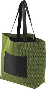 VARADERO Nákupní taška z netkané textilie, zelená papírová taška s potiskem