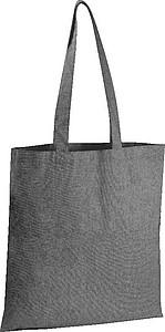 Přírodní nákupní taška z recyklované bavlny, černá