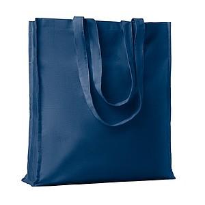 Bavlněná nákupní taška, dlouhá ucha, s cvočkem, modrá