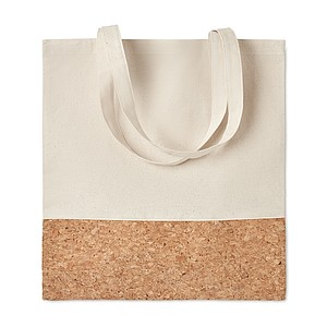 Nákupní taška s korkovým detailem