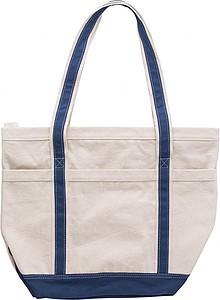 Bavlněná nákupní taška, s modrými uchy