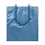 Nákupní taška s lesklým povrchem, modrá