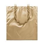 Nákupní taška s lesklým povrchem, zlatá