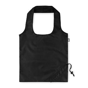 Skládací nákupní taška z RPET, černá
