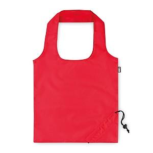 Skládací nákupní taška z RPET, červená