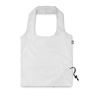 Skládací nákupní taška z RPET, bílá