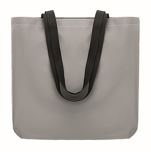 Reflexní nákupní taška, stříbrná
