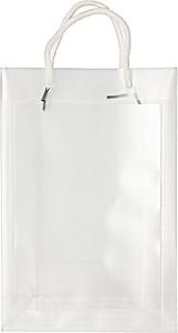 Transparentní taška, velikost A5 s bílými kroucenými uchy