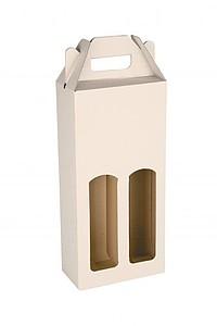 KLEROS Kartonový obal na 2 láhve 16,5x8x34,5 cm, bílá