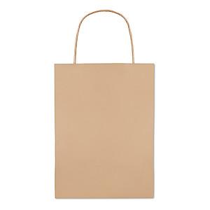 Papírová taška 16x10x23cm, béžová