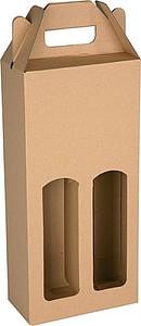 KLEROS Kartonový obal na 2 láhve 16,5x8x34,5 cm, hnědá