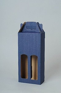 KLEROS Kartonový obal na 2 láhve, modrá