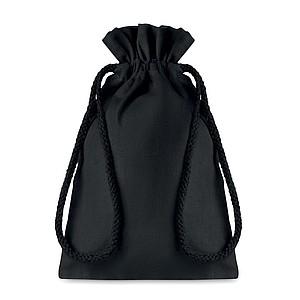 Malý bavlněný pytlík, 14x22cm, černý