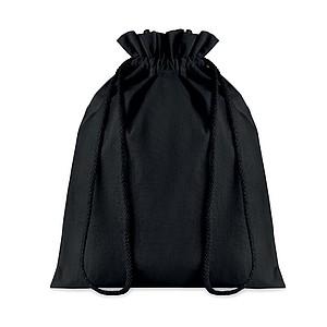 Střední bavlněný pytlík, 25x32cm, černý
