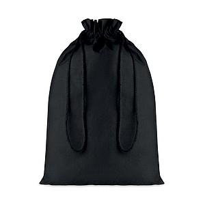 Velký bavlněný pytlík, 30x47cm, černý