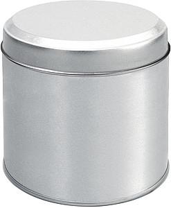ALVA BOX Stříbrná plechovka s bílým víčkem