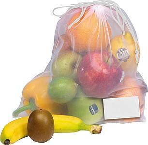 Stahovací transparentní sáček na ovoce a zeleninu