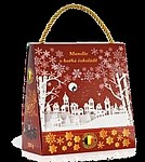 Mandle v hořké čokoládě, 200g, červená taška
