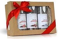 Balíček plodů v čokoládě v dárkové krabičce, brusinky, třešně a borůvky, 600g