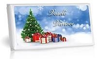 Hořká čokoláda s kakaovými boby 100g - Veselé Vánoce - dárky