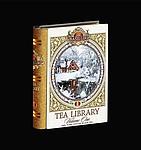 TABUK Dárkové vánoční balení černého sypaného čaje ve tvaru pohádkové knihy, 100 g, bílá