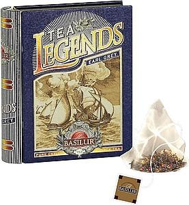 BASILUR Legends Earl Grey plech pyramid 5x2g