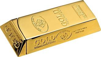 GOLDIK Zapalovač ve tvaru zlaté cihličky