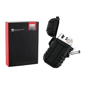 SCHWARZWOLF SANFORD Dobíjecí elektrický zapalovač černý