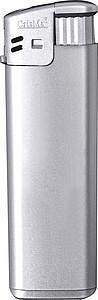 Elektronický barevný zapalovač, plnící, stříbrná