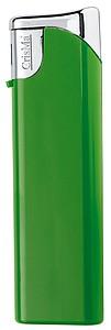 Elektronický barevný zapalovač, plnící, zelená reklamní zapalovač