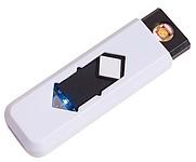 DERIK Cigaretový zapalovač, nabíjený přes USB, bílý