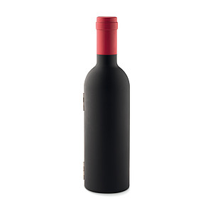 Sada na víno ve tvaru lahve, černá