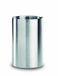 Nerezová chladící nádoba na láhev vína, stříbrná