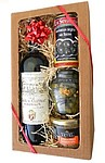 Sada Canard s červeným vínem, terinou, okurky a olivami