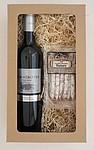 Dárkový balíček vína a minisalámků
