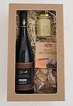 Dárková krabice s vínem, medem a perníčky