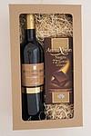 Dárkový balíček vína s čokoládou